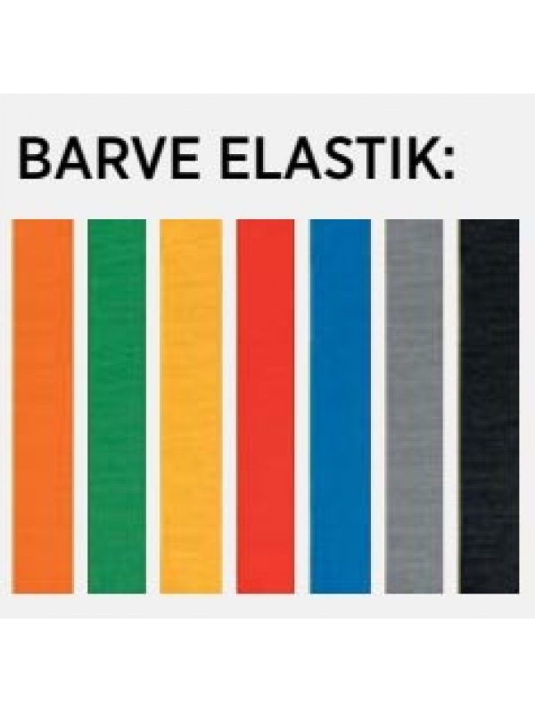 BELEŽKA A5 Z ELASTIKO - črna