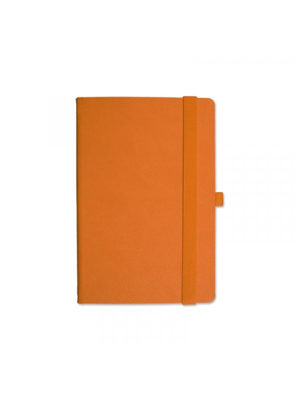 BELEŽKA A5 Z ELASTIKO TEKSTURE - oranžna