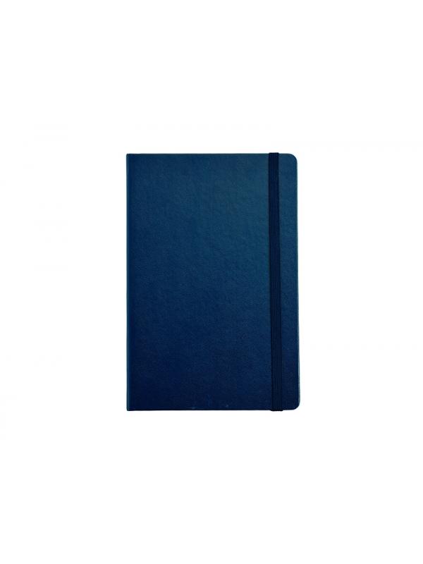 BELEŽKA A5 Z ELASTIKO - temno modra