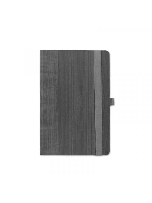 BELEŽKA A5 Z ELASTIKO  - tmno siva