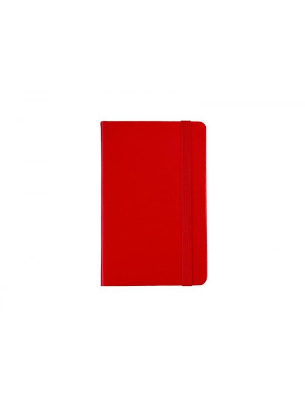 BELEŽKA A6 Z ELASTIKO - rdeča