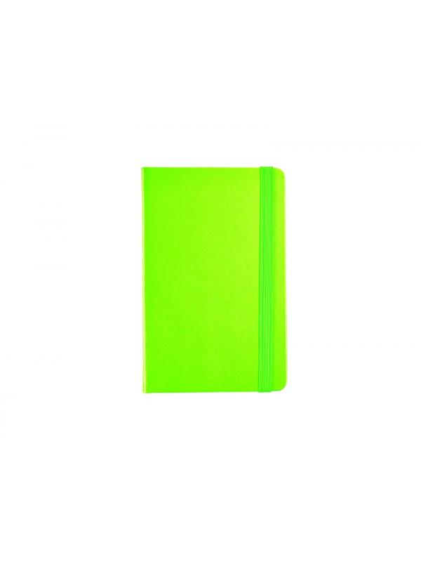 BELEŽKA A6 Z ELASTIKO - zelena