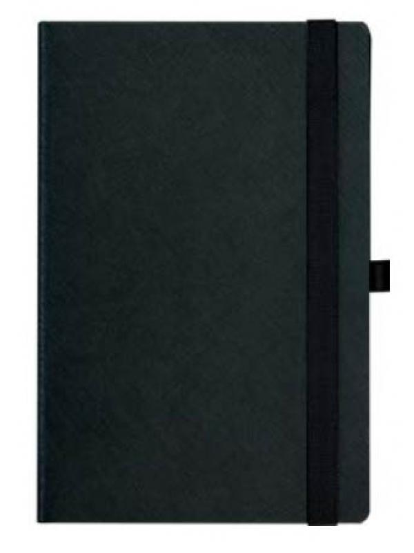 BELEŽKA B5 Z ELASTIKO - črna