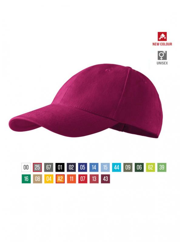 6P Cap unisex barvna uni