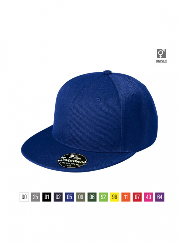 Rap 6P Cap unisex bela uni