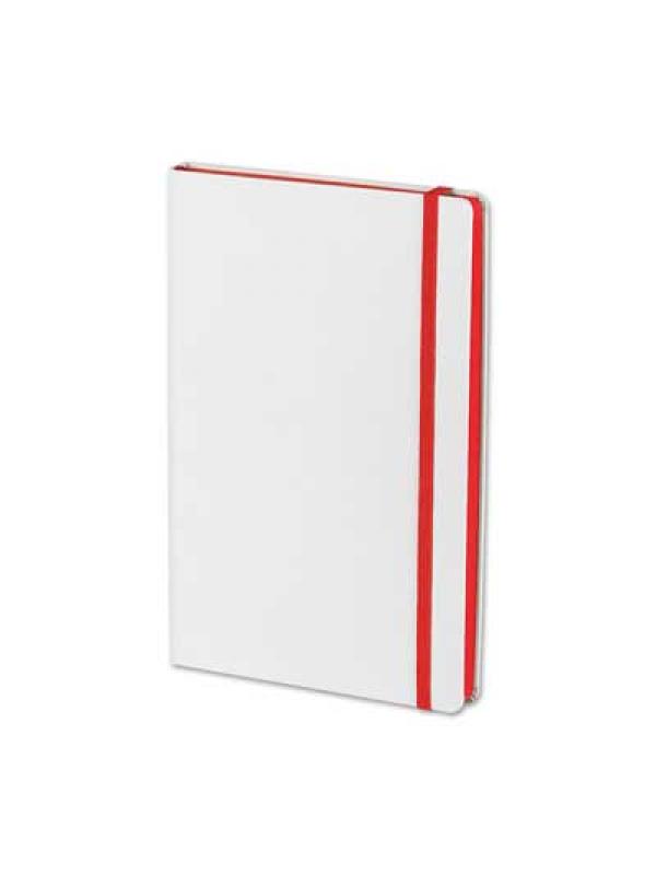 BELEŽKA A5 FLUX WHITE - rdeča