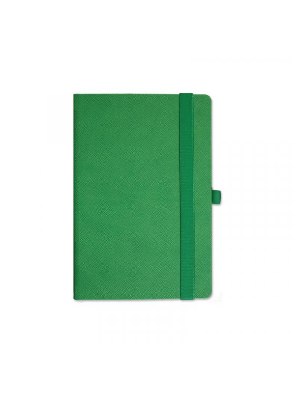 BELEŽKA A5 Z ELASTIKO TEKSTURE - zelena