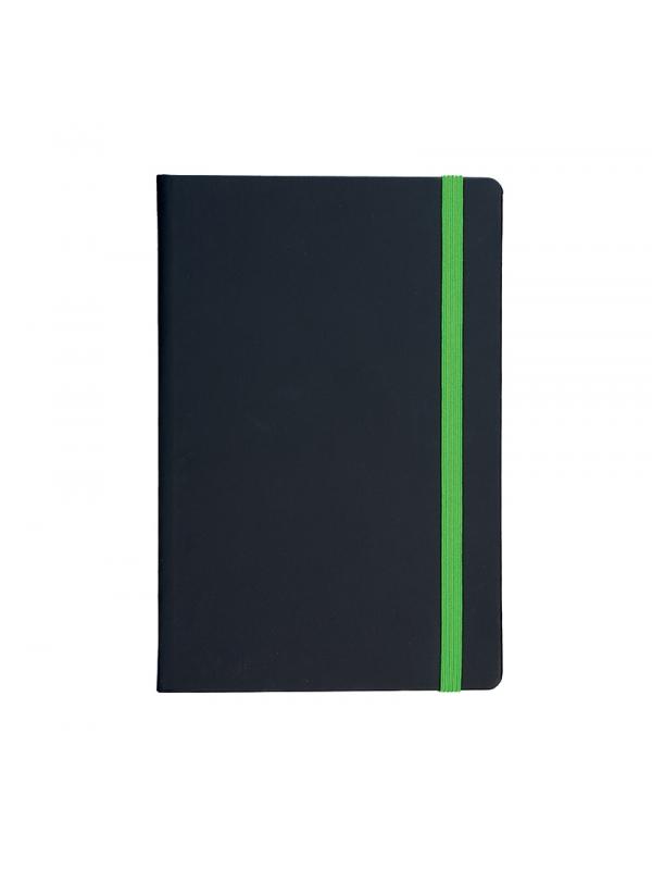 BELEŽKA A5 Z ELASTIKO FLUX - zelena
