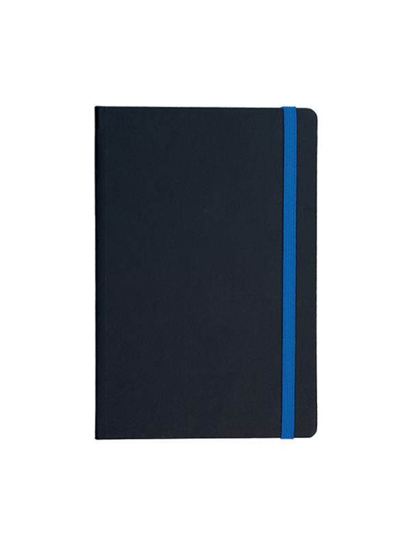 BELEŽKA A5 Z ELASTIKO FLUX - modra