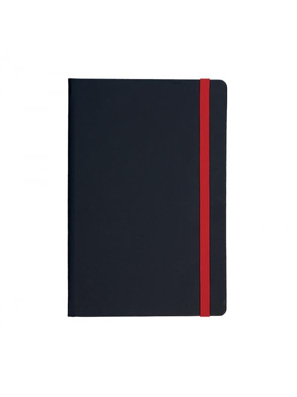 BELEŽKA A5 Z ELASTIKO FLUX - rdeča