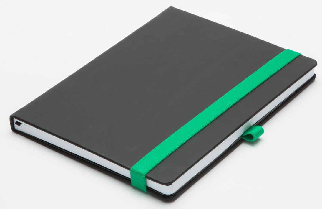 ROKOVNIK B5 MILANO - črno zelena