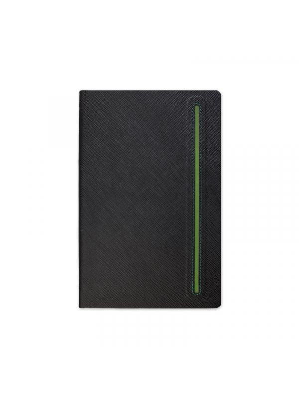 BELEŽKA A5 TEXTURE BLACK - zelena