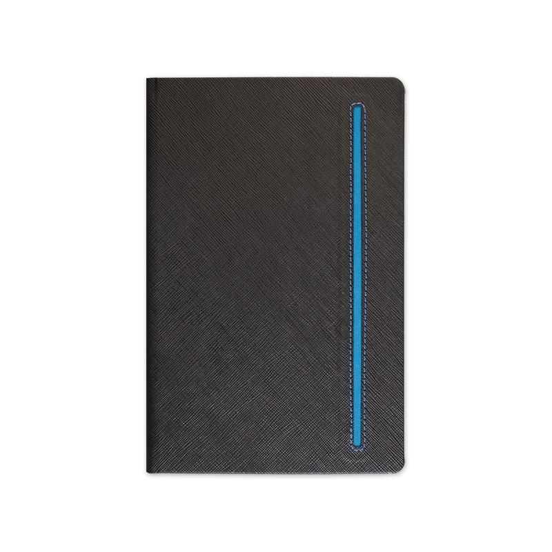 BELEŽKA A5 TEXTURE BLACK - modra