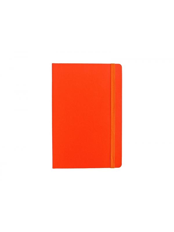 BELEŽKA A5 Z ELASTIKO - oranžna