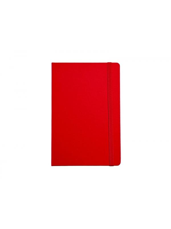 BELEŽKA A5 Z ELASTIKO - rdeča