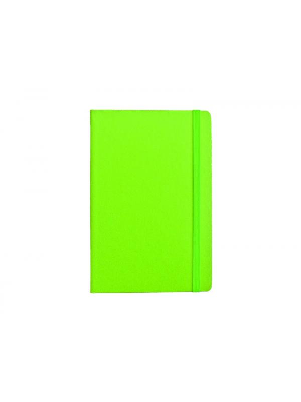 BELEŽKA A5 Z ELASTIKO - zelena