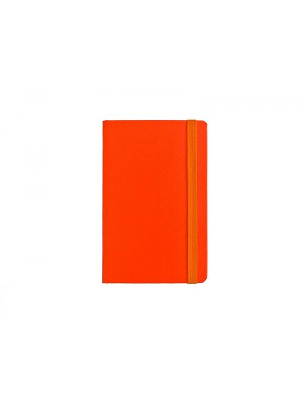 BELEŽKA A6 Z ELASTIKO - oranžna
