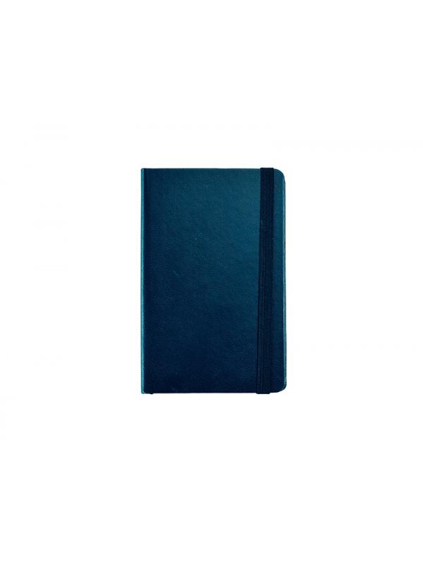 BELEŽKA A6 Z ELASTIKO - temno modra