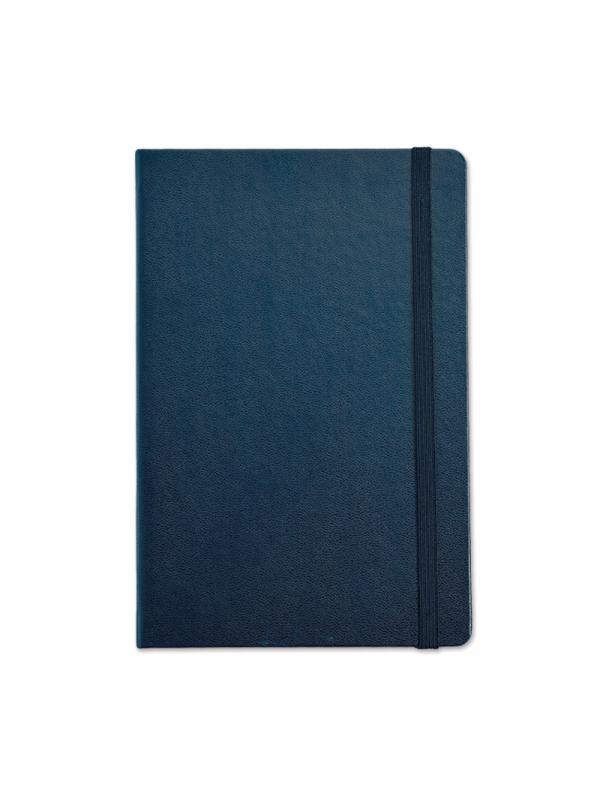BELEŽKA B5 Z ELASTIKO - temno modra