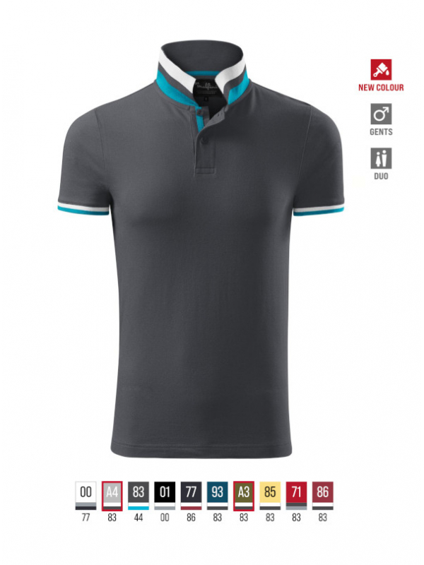 Collar Up Polo Shirt Gents barvna 3XL