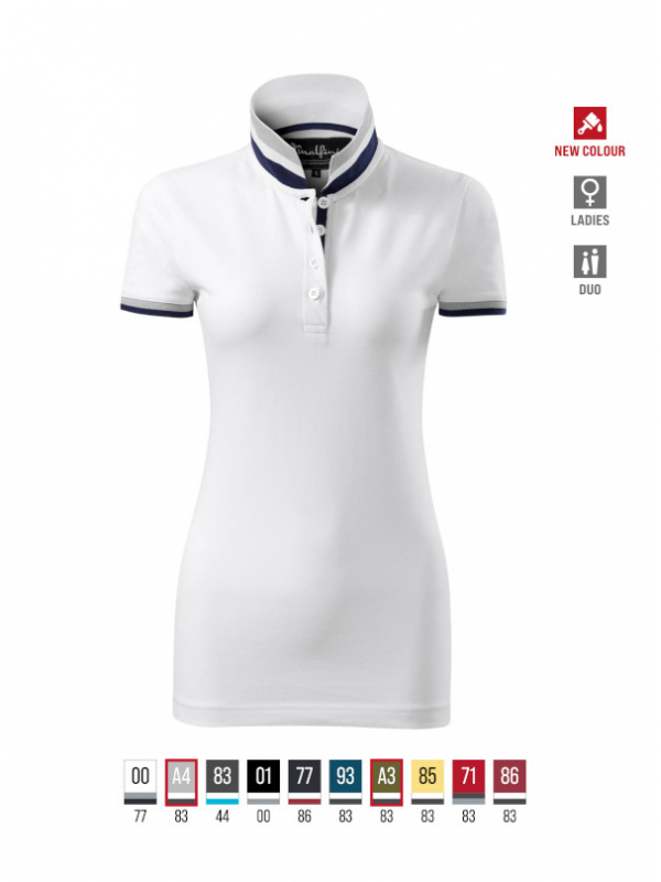 Collar Up Polo Shirt Ladies barvna