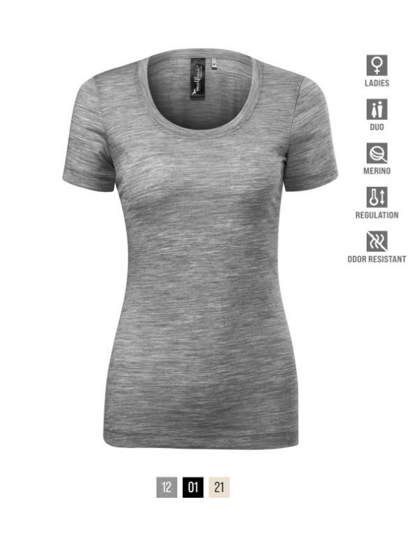 Merino Rise T-shirt Ladies barvna