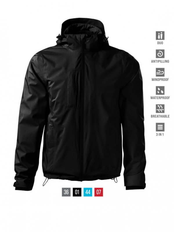 Pacific 3 IN 1 Jacket Gents barvna 3XL