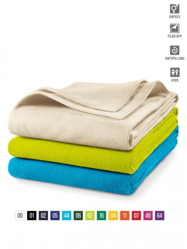Blanky fleece blanket unisex barvna