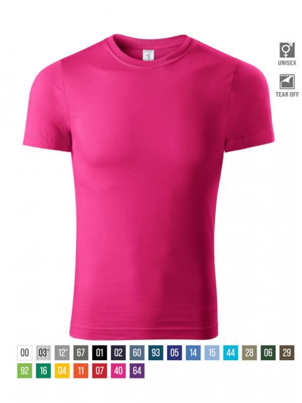Paint T-shirt unisex bela 4XL