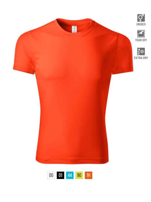 Pixel T-shirt unisex bela 4XL