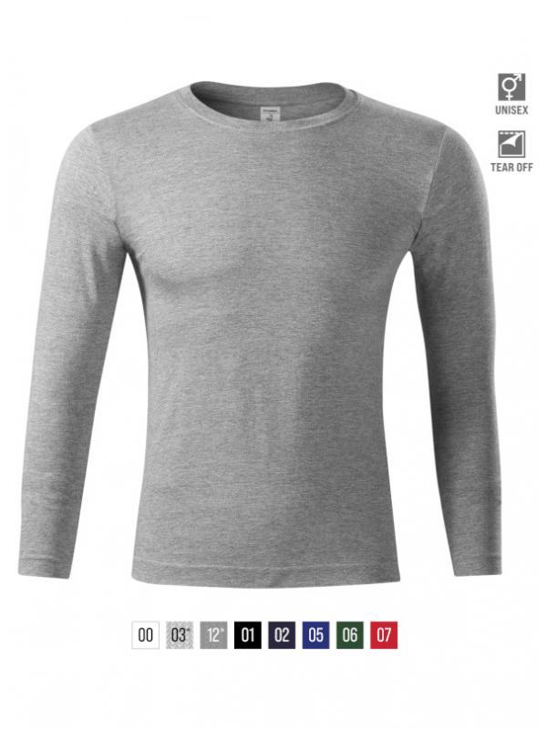 Progress LS T-shirt unisex bela 3XL
