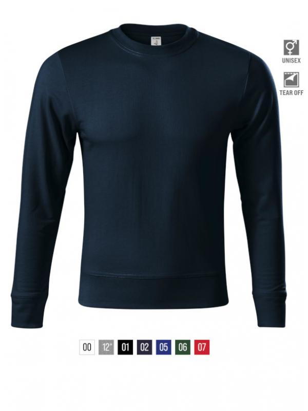 Zero Sweatshirt unisex bela 3XL