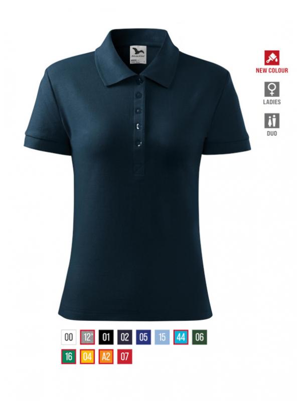 Cotton Heavy Polo Shirt Ladies barvna