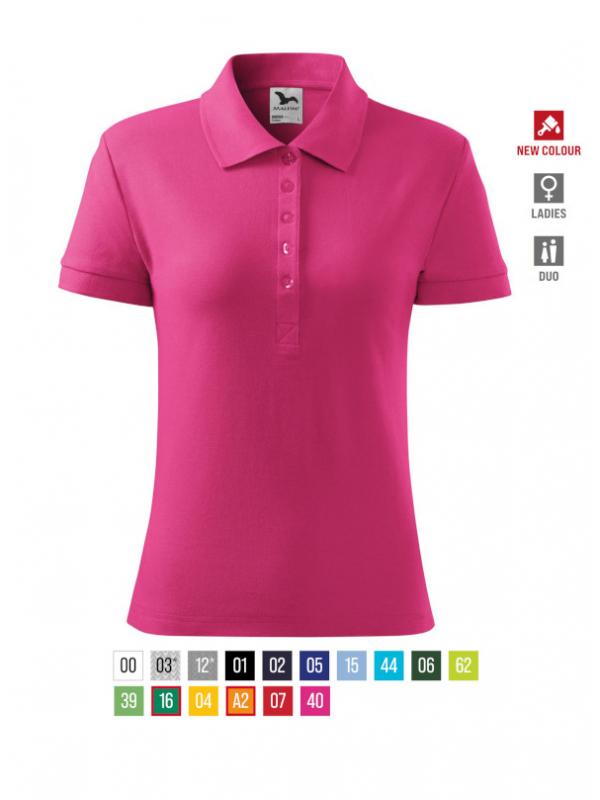 Cotton Polo Shirt Ladies barvna