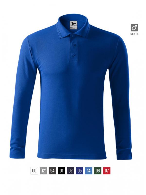 Pique Polo LS Polo Shirt Gents barvna