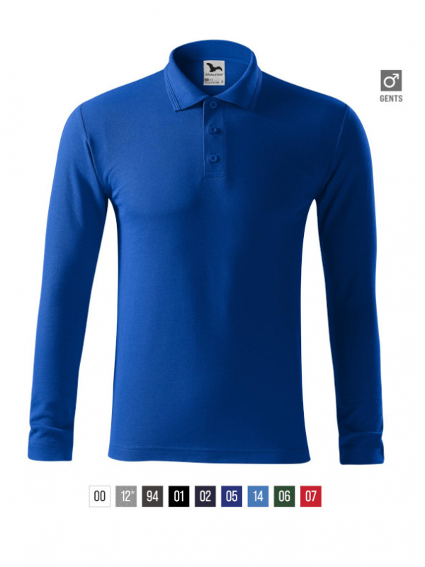 Pique Polo LS Polo Shirt Gents bela 3XL