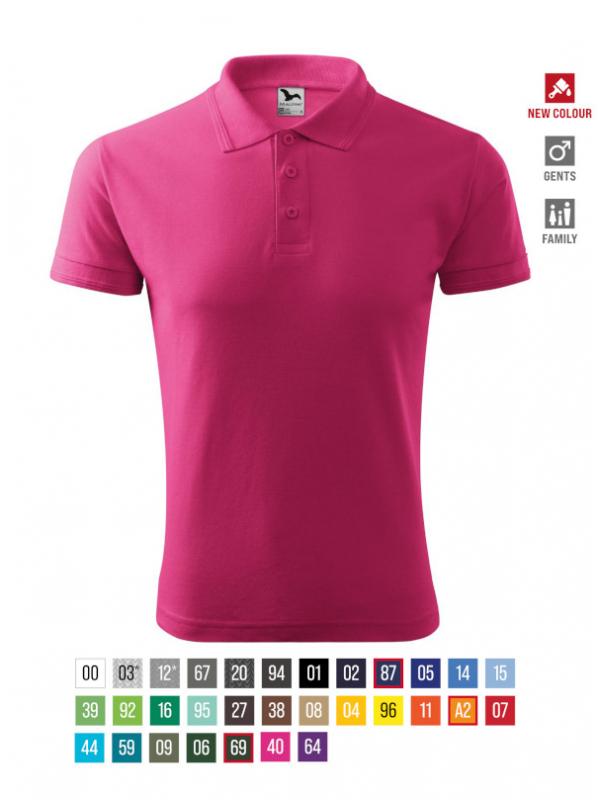 Pique Polo Polo Shirt Gents barvna