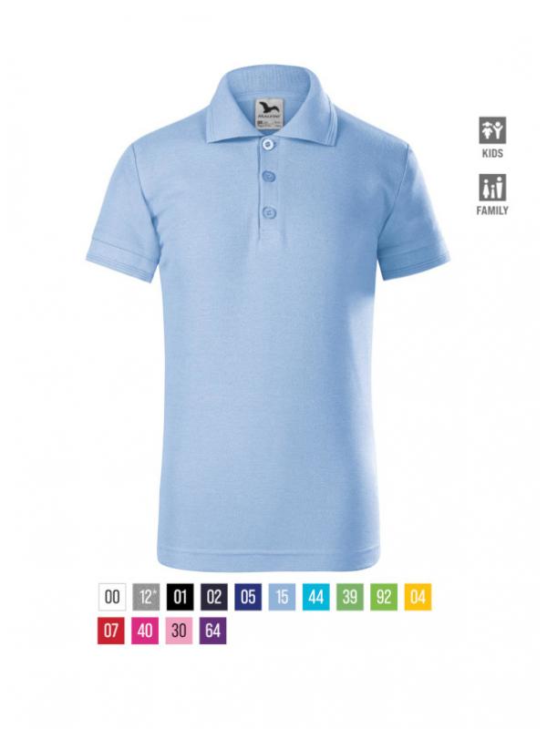 Pique Polo Polo Shirt Kids barvna