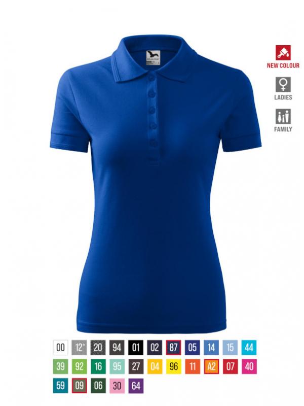 Pique Polo Polo Shirt Ladies barvna