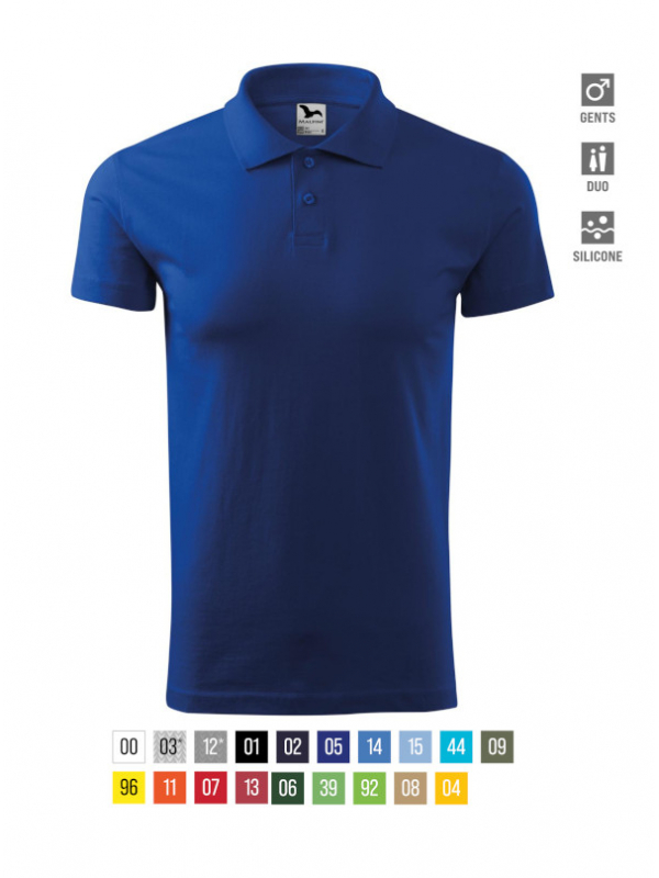 Single J. Polo Shirt Gents barvna 3XL