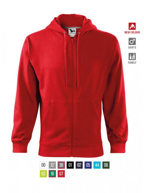 Trendy Zipper Sweatshirt Gents bela 3XL