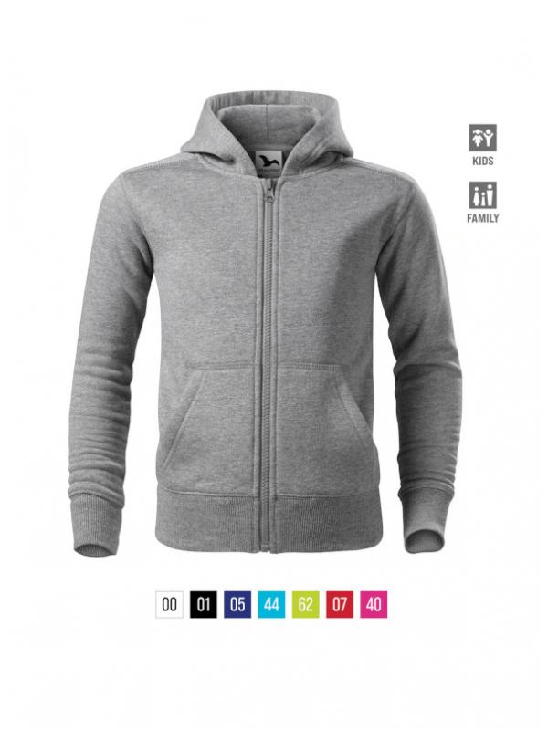 Trendy Zipper Sweatshirt Kids barvna