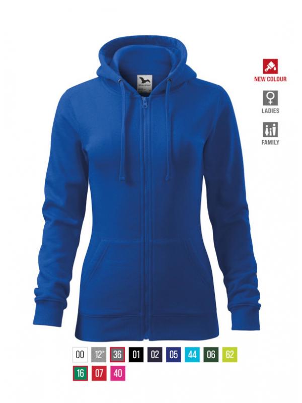 Trendy Zipper Sweatshirt Ladies bela