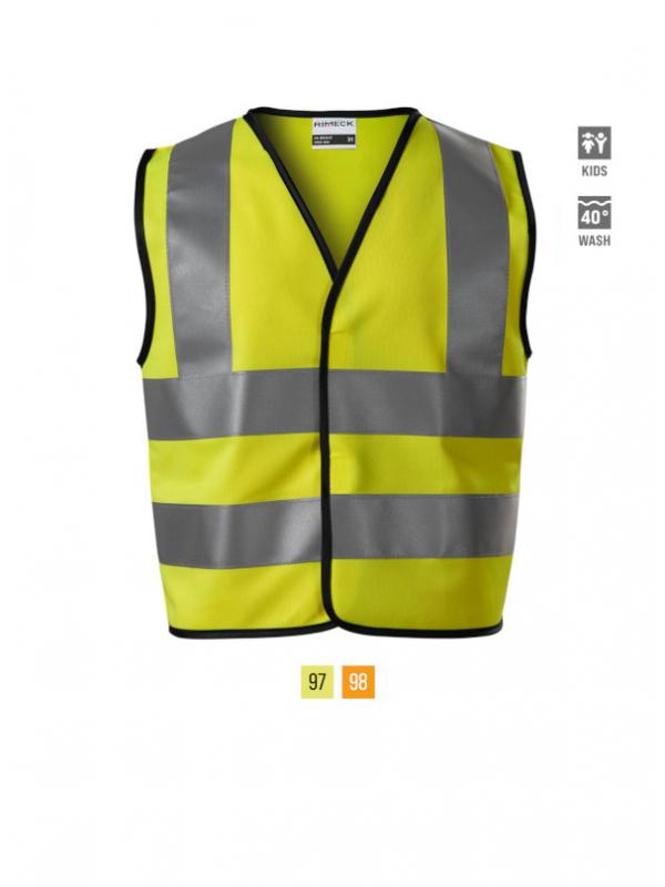 HV Bright Safety Vest Kids barvna