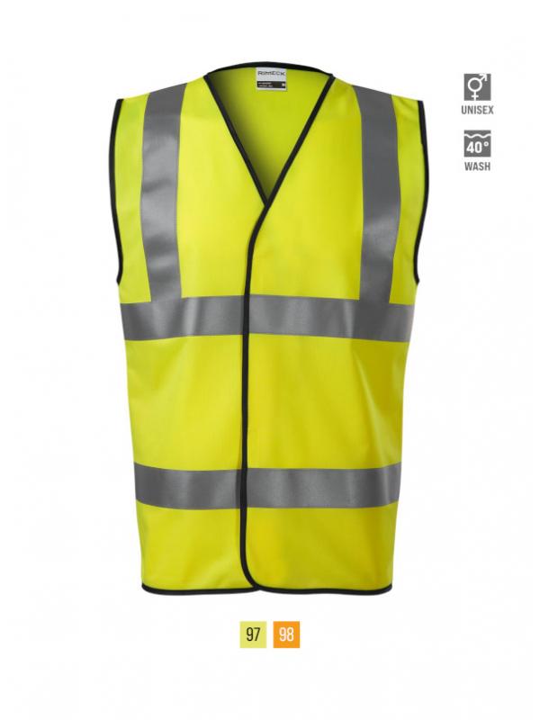 HV Bright Safety Vest unisex barvna