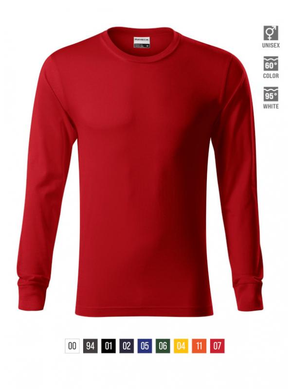 Resist LS T-shirt unisex bela 3XL