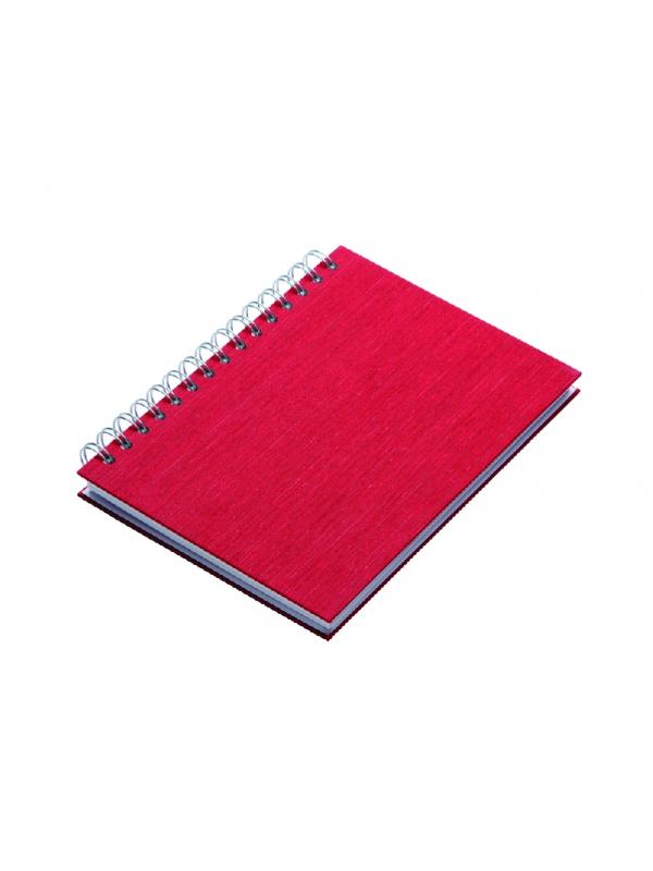 ROKOVNIK KAŠMIR A5 špiralni, rdeč