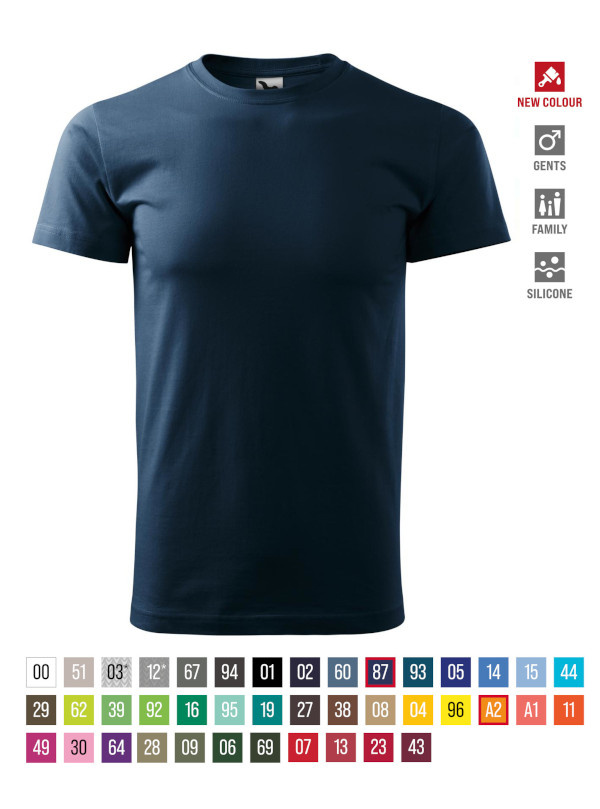 Basic T-shirt Gents barvna 5XL
