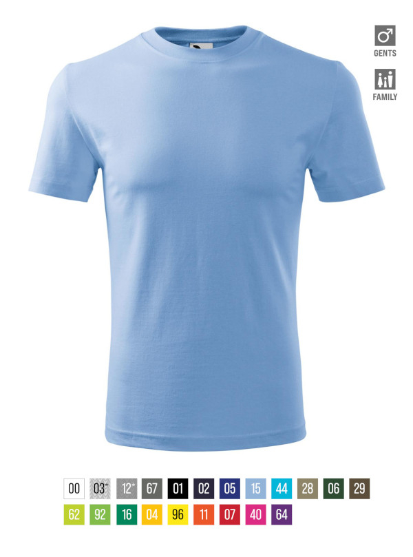 Classic New T-shirt Gents barvna 3XL