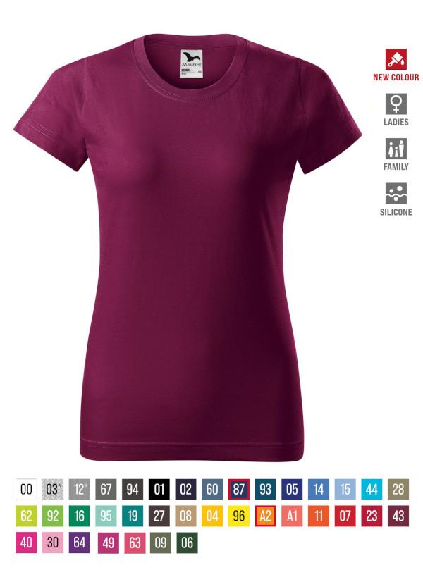 Basic T-shirt Ladies barvna 3XL
